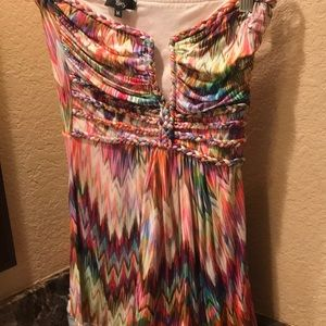 Strapless top..very colorful and cute!
